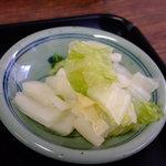 山田ホームレストラン - 定食のお新香