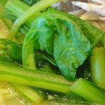 牡丹園 - トッピングの青梗菜