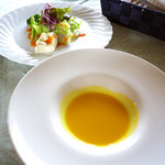 バローロ - ポタージュスープ(ミニサイズ)&サラダ(ミニサイズ)