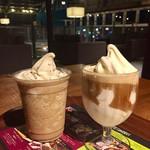 ツリーズ コーヒー カンパニー - 別の日  左:ソフトクリームグラニータ エスプレッソ¥580外 右:アフォガード¥480外