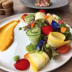 フィオリータ - 生ハムとイチジクの前菜&サラダ