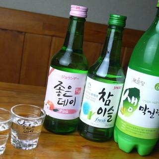 生マッコリ、ソジュあり◎韓国酒で乾杯♪