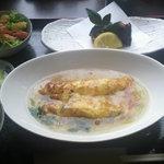 季節料理 楽や - 料理写真:おまかせランチ(和風かに玉・若鶏の磯部揚げ・サラダ・・・コーヒー付)