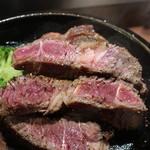 いきなり!ステーキ - ワイルドステーキ 450g断面アップ