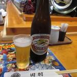 すし田村 - 瓶ビール 650円 (2017.8)
