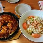 そらいえ - 海鮮ミックス玉(関西)+和風サラダ:1,050円+450円