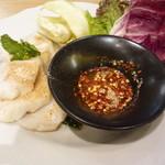 マンゴツリーカフェ - 茹で魚のイサーンソース添え
