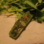 ナイン ストーリーズ - アミューズ1:鮎のペーストの白ミニ胡瓜乗せ へベスの露2