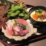 五反田 地鶏個室居酒屋 近藤 - お通しと前菜