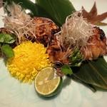 五反田 地鶏個室居酒屋 近藤 - 若鶏の巴旦杏味噌焼き