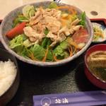 72257219 - 冷しゃぶと野菜たっぷり定食/お味噌と漬物付き