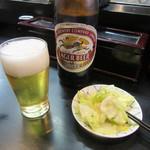 川二郎 - 瓶ビール・お通し