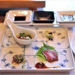 ビフテキのカワムラ - 特選神戸ビーフの炙り 三種盛り