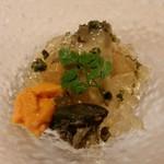 中国料理 東弦京 - フカヒレと鮑の刺身
