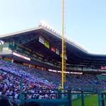 中国料理 百楽 - 【おまけ画像】甲子園球場での高校野球3回戦、第4試合の途中で内野の照明が点いた。この後、大逆転劇が起こる。