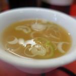 よしき - スープはラーメンと一緒?