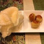 福 タイ料理 - えびせんとウズラの卵揚げ