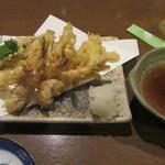 武蔵野そば処 - 「小海老の天ぷら・生姜の天ぷら」