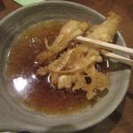 武蔵野そば処 - 生姜天を天つゆで