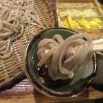 武蔵野そば処 - 蕎麦を手繰る