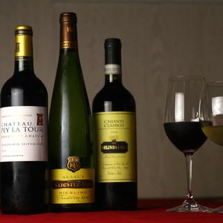 コスパ重視◎ワイン40種類以上!豊富な種類のお酒に今夜は魅了