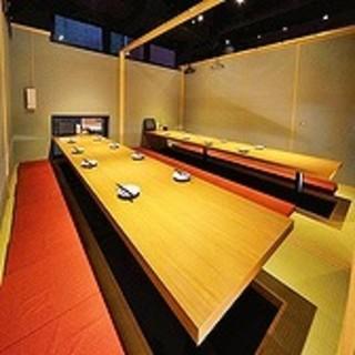 各種ご宴会で利用いただきやすい完全個室