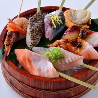 新鮮魚介をあえて炙る!!炙り海鮮串