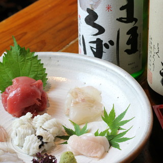 元魚屋の大将の確かな目利きで厳選した鮮魚はどれも絶品です!