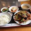 焼肉ハウスファミリー - 料理写真:日替わり定食(豚バラとナスのピリ辛炒め)