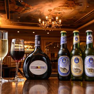 ☆本場のドイツビールとドイツワインを堪能☆