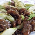 上海亭 - 牛肉と長ネギ炒めZOOM