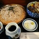 喉越しの蕎麦晴朗 - サービスランチ①蕎麦+野菜天3品→野菜天丼に変更 ¥850