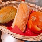 72286360 - よもぎ餡パン、揚げパン、かぼちゃ餡パン