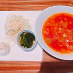 ブーランコ - ランチ♪ ミネストローネとサラダと小鉢