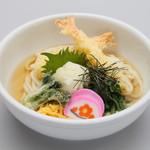 みかわの郷 - 海老おろしうどん(温)