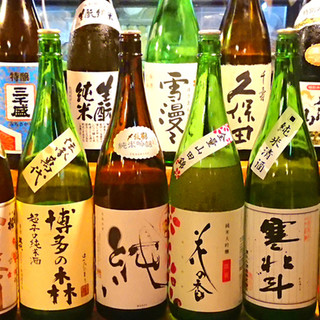 和食と魚を引き立てる魅惑の銘酒・レア酒を豊富にご用意。
