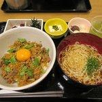 樹勢 - 料理写真:豚すき丼とおだしそうめん2017.08.30