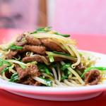 大連 - 料理写真:豚肉のレバーとニラ炒め@税込680円
