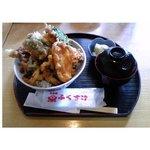 天丼屋 ふくすけ - 野菜天丼 500円 ピーマン 50円 かぼちゃ 50円 れんこん 50円