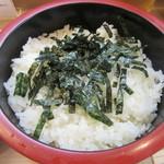 都寿司 - 下段の「酢飯」
