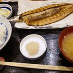 諸国 ひものと - さんま開き定食 930円