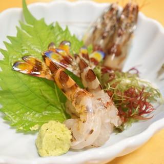 海老の宮川 - 料理写真:海老会席(おどり食い)