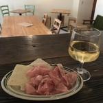 カフェ アリカ - 切り落としハムとワインの「ほろ酔いセット」