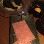 72300577 - 焼肉の一番のお気に入りはサブトンのすき焼き+トリフュTKG                            …って、また〝焼いて〟なーいΣ(゚д゚lll)