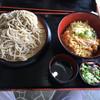 信濃 - 料理写真:海老天丼定食。大盛り