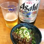 立呑み処 おかわり - 大ビン500円+マグロユッケ320円