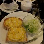 カフェ・ラパン - モーニング・セット(タマゴトースト)600円