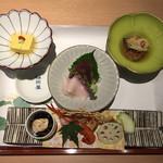個室処 稲田屋はなれ - 先付・造り・小付・旬の前菜
