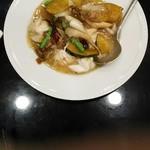 72310800 - イカと野菜の自家製XO醤炒め 税込930円