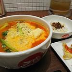 太陽のトマト麺Next - 太陽のチーズラーメン+Aセット